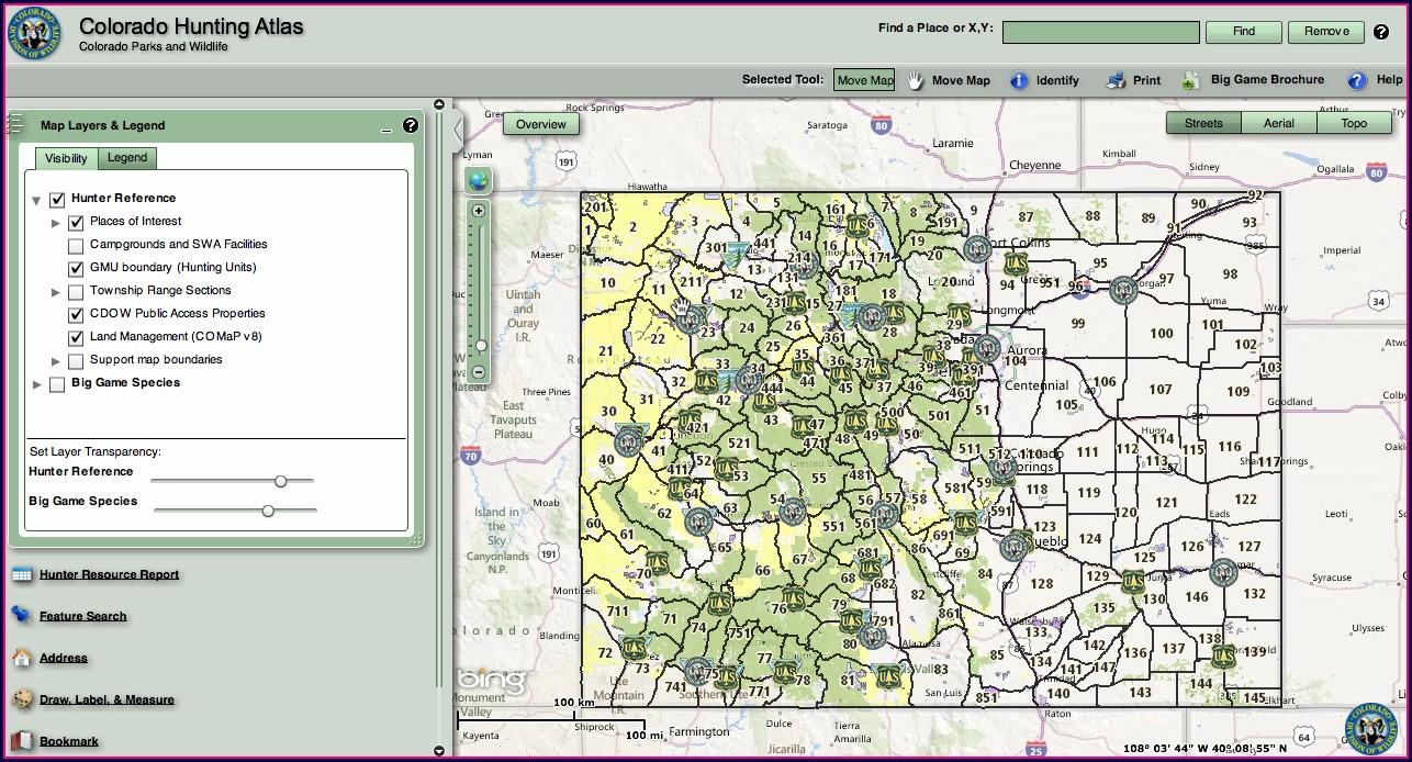 Diy Hunting Maps Colorado