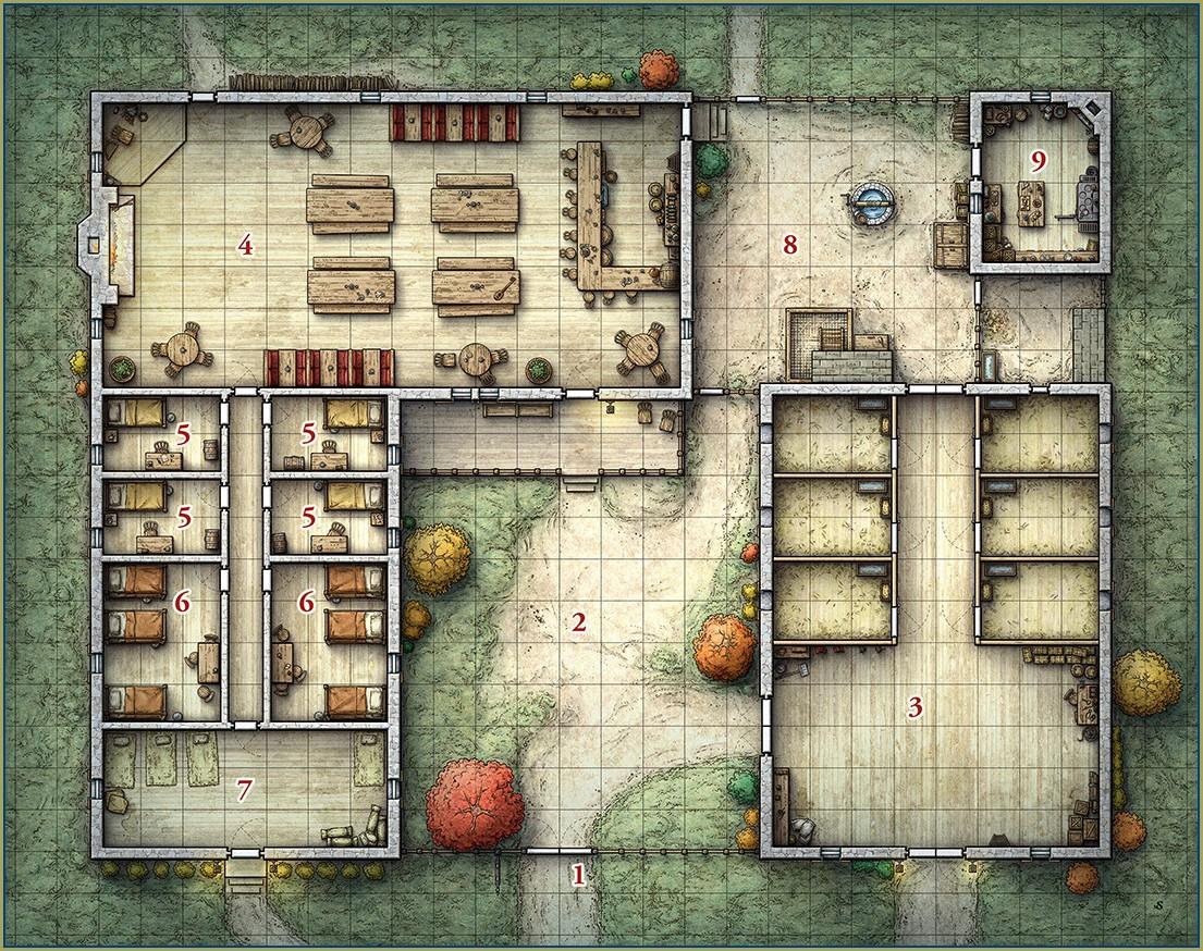 Dnd 5e Tavern Battle Map