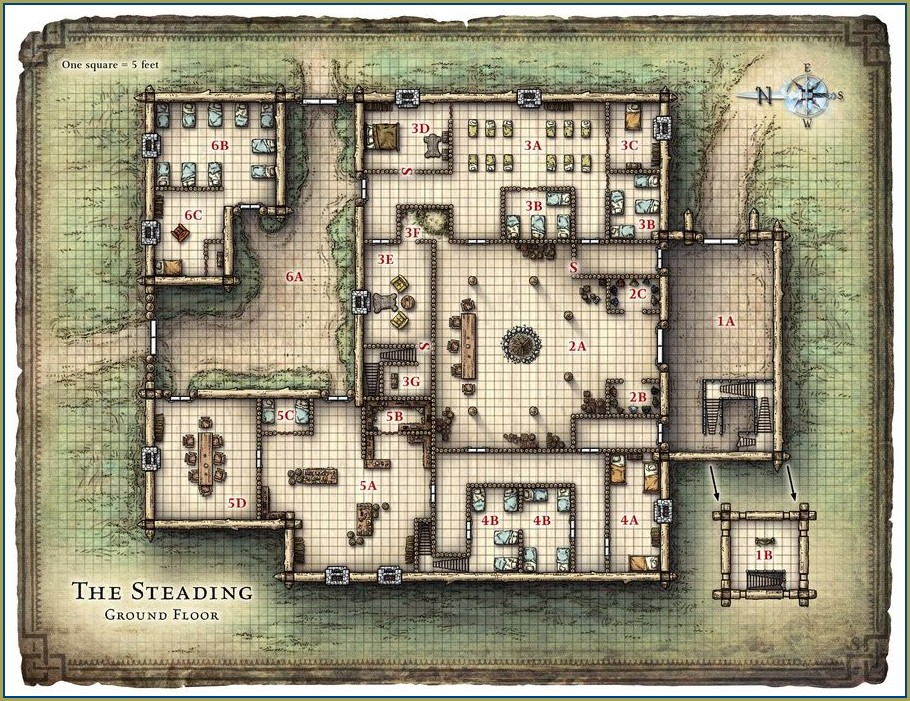 Dnd 5e Tavern Map
