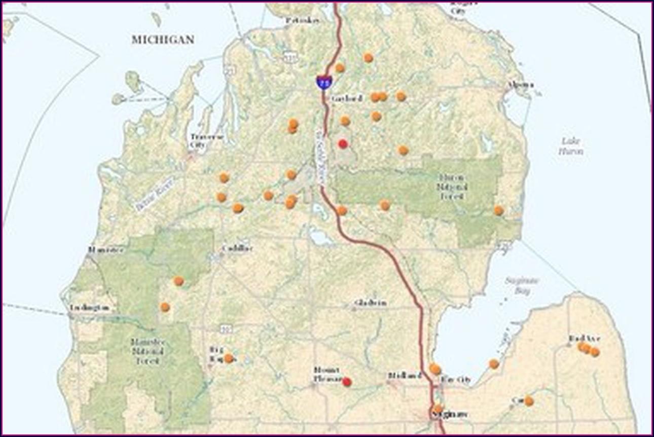 Dnr Hunting Map Michigan