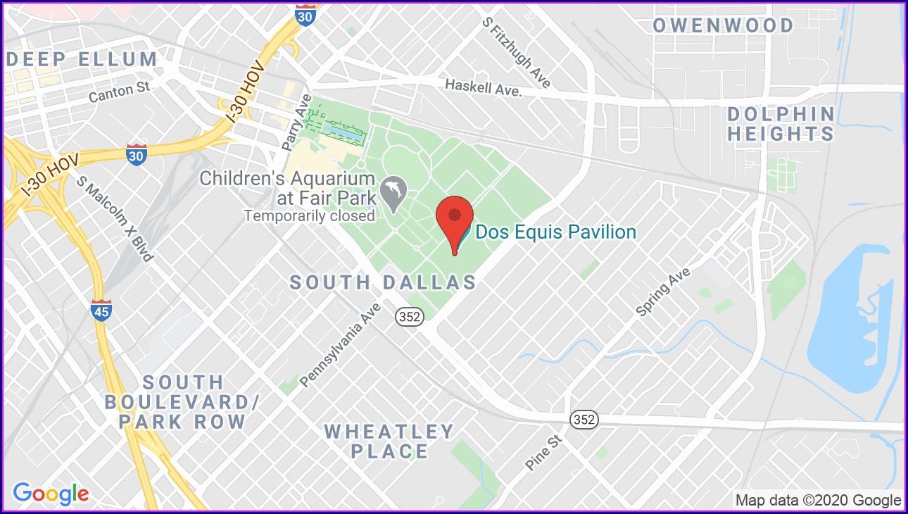Dos Equis Pavilion Map
