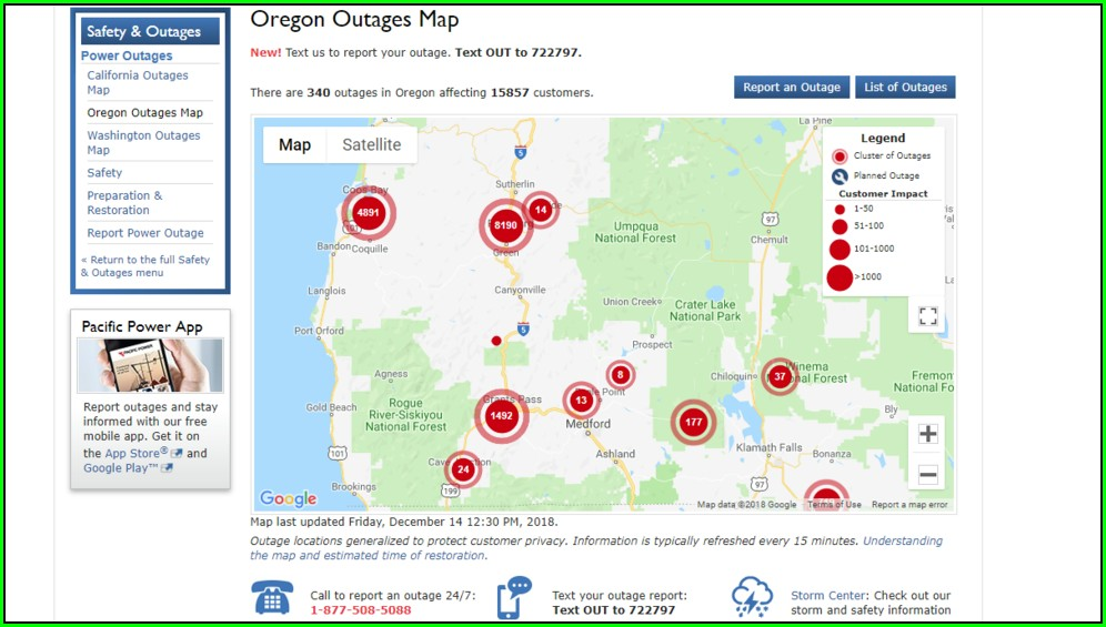 Douglas County Power Outage Map