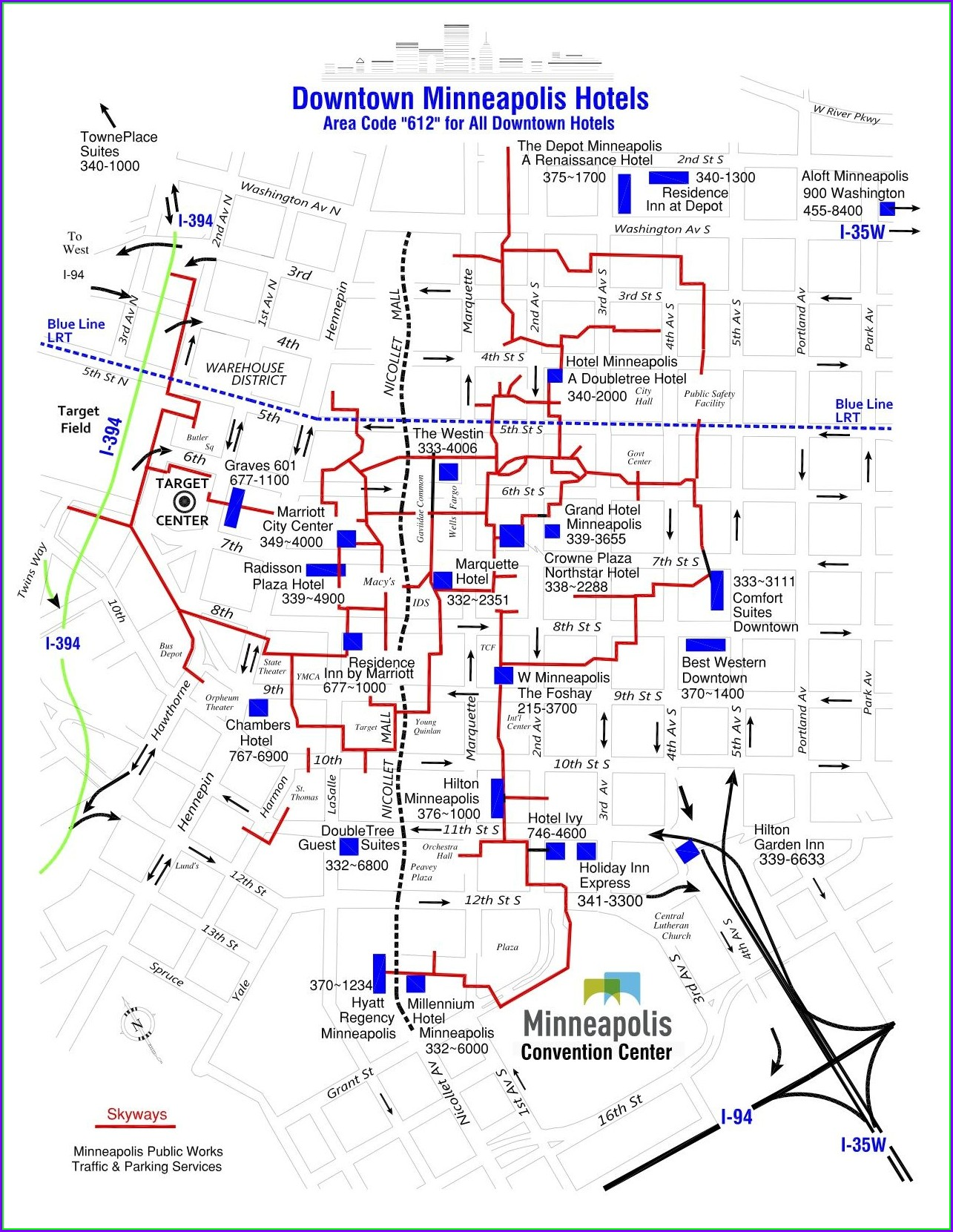 Downtown Minneapolis Hotels Map