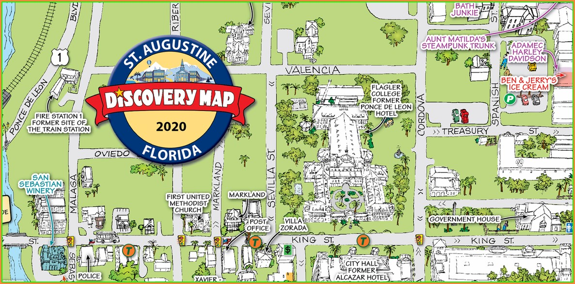 Downtown St Augustine Historic District Map