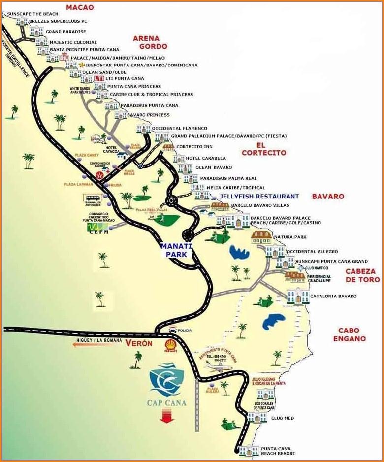 Dreams Punta Cana Map Location