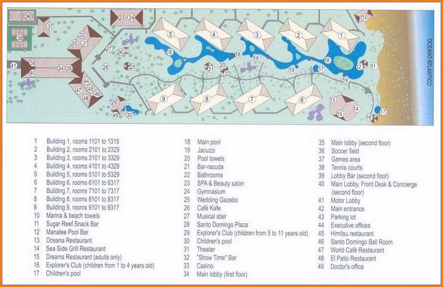 Dreams Punta Cana Map