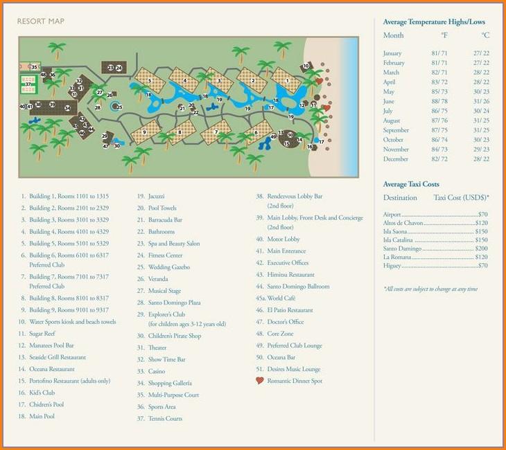 Dreams Punta Cana Resort Map