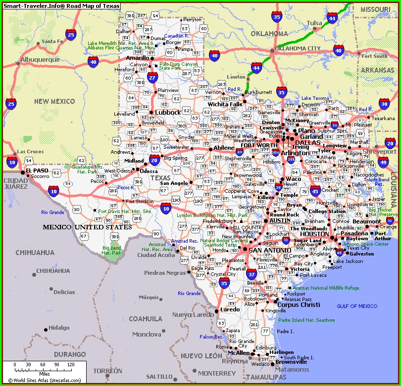 Driving Map Of Texas And New Mexico