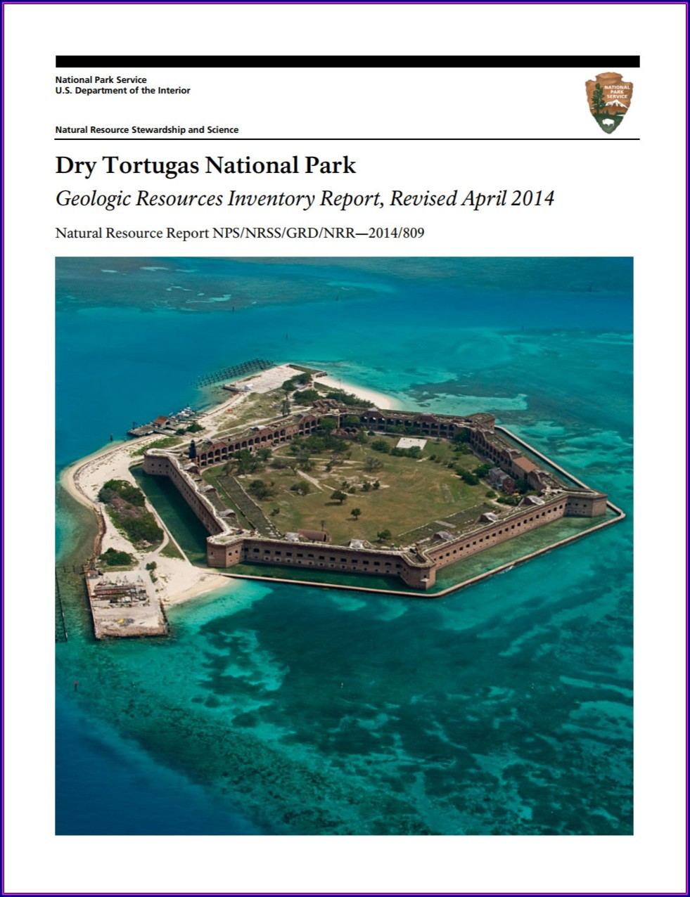 Dry Tortugas National Park Map Pdf