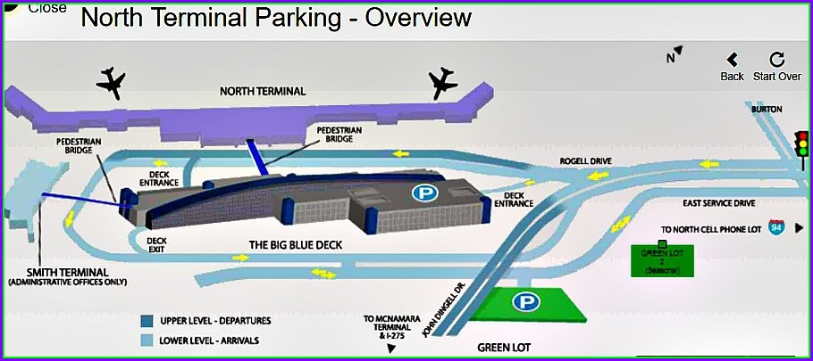Dtw Airport Parking Map