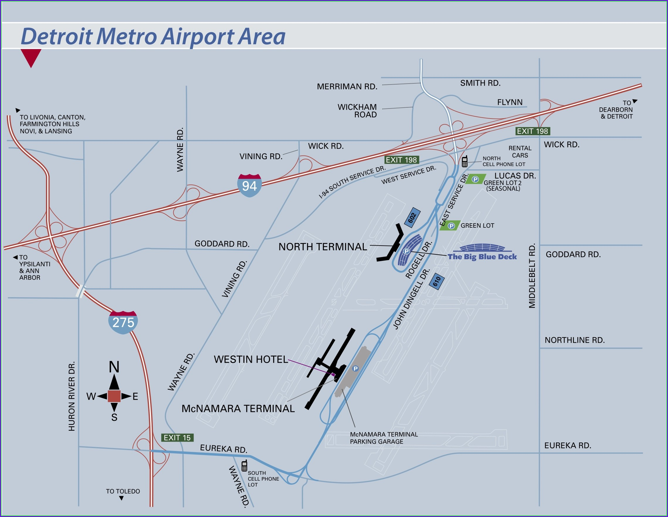Dtw Mcnamara Parking Map
