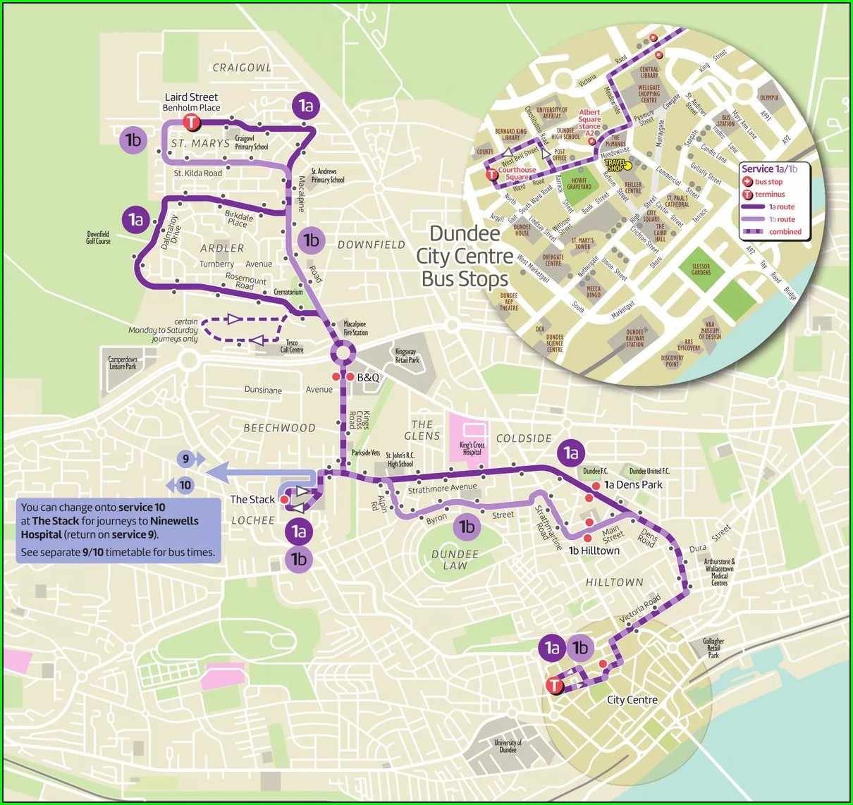 Dundee Bus Routes Map