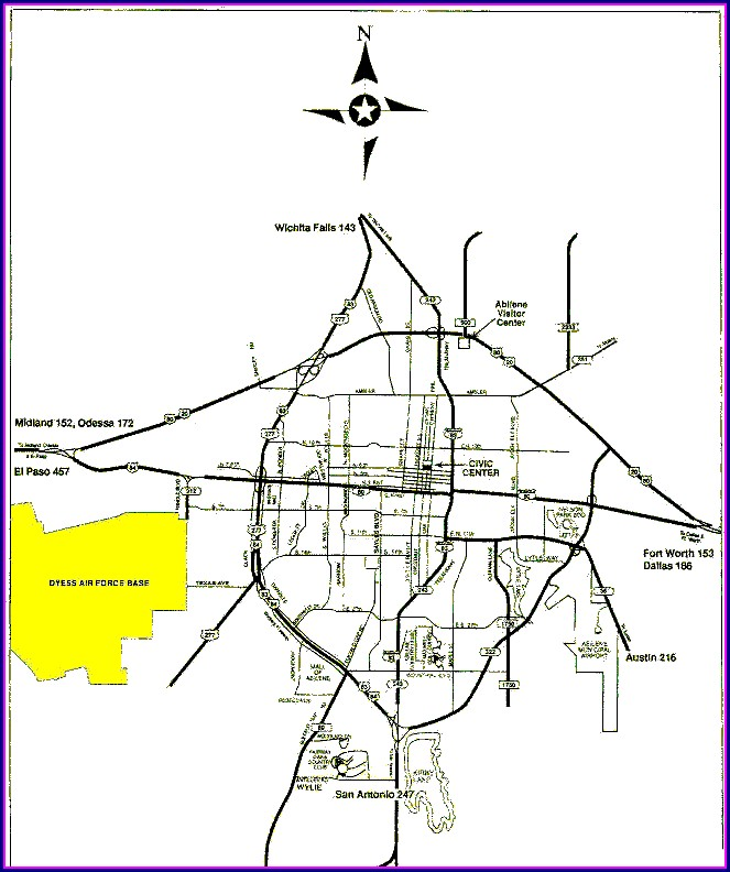 Dyess Afb Map With Building Numbers