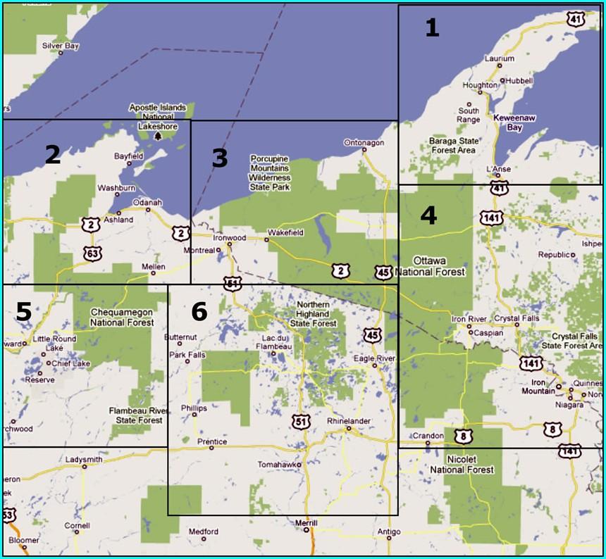 Eagle River Wi Snowmobile Map