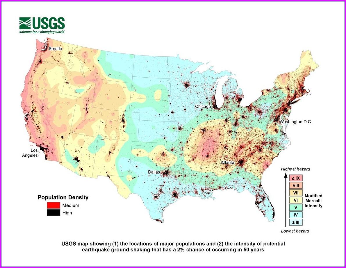Earthquake Hazard Assessment Utah Earthquake Risk Map