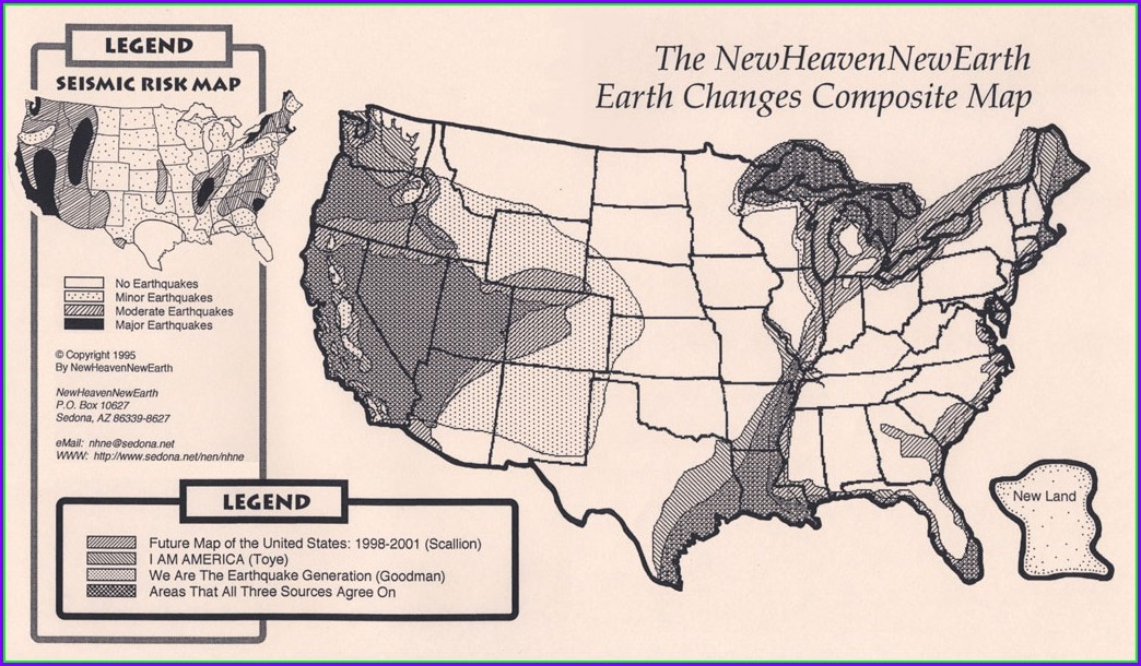 Edgar Cayce Future Map Of America