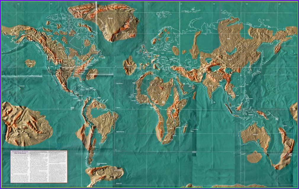 Edgar Cayce Map Of The World