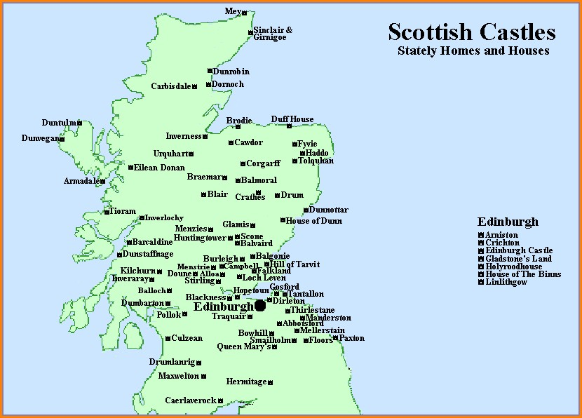 Eilean Donan Castle Map Scotland