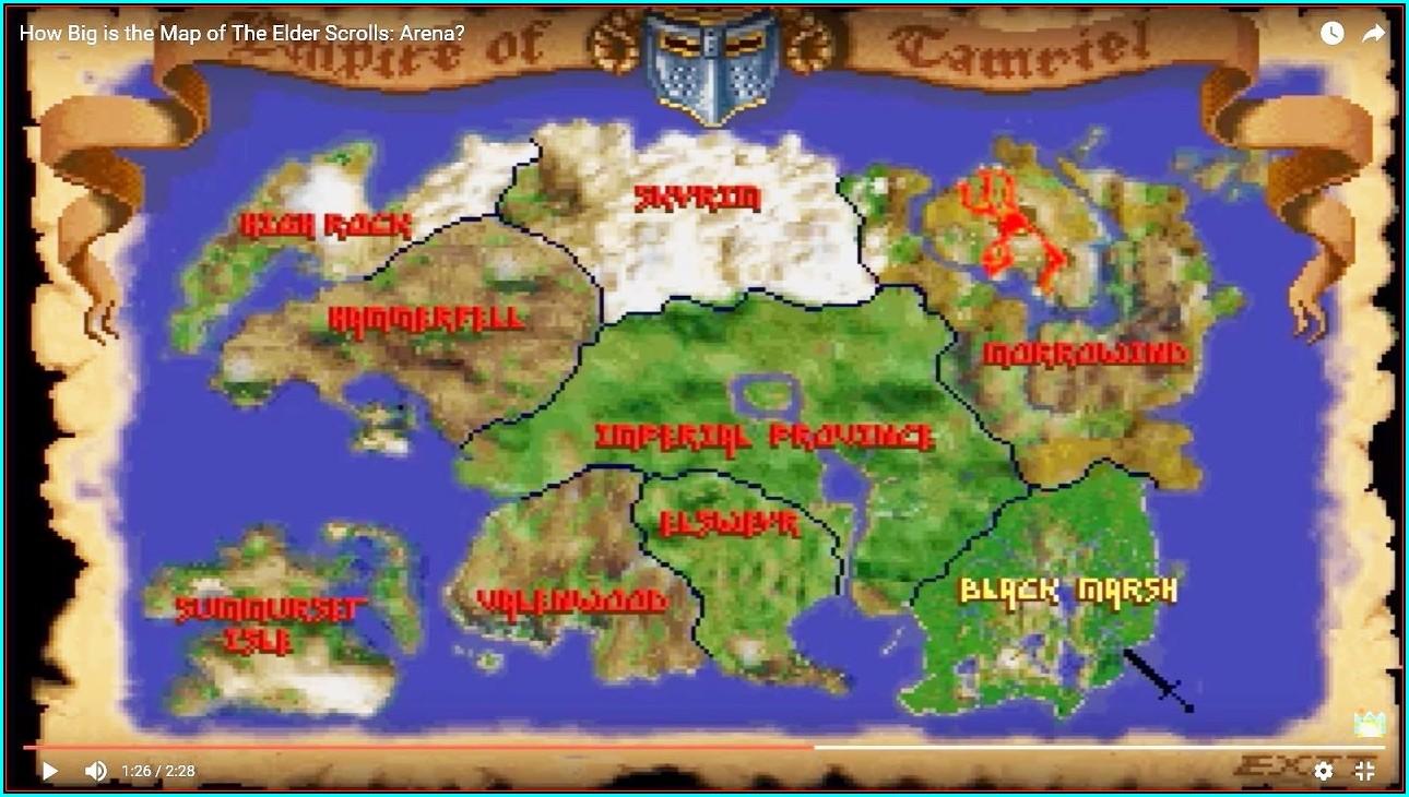 Elder Scrolls 1 Map Size