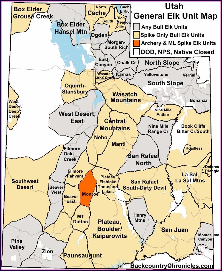 Elk Migration Colorado Elk Population Density Map