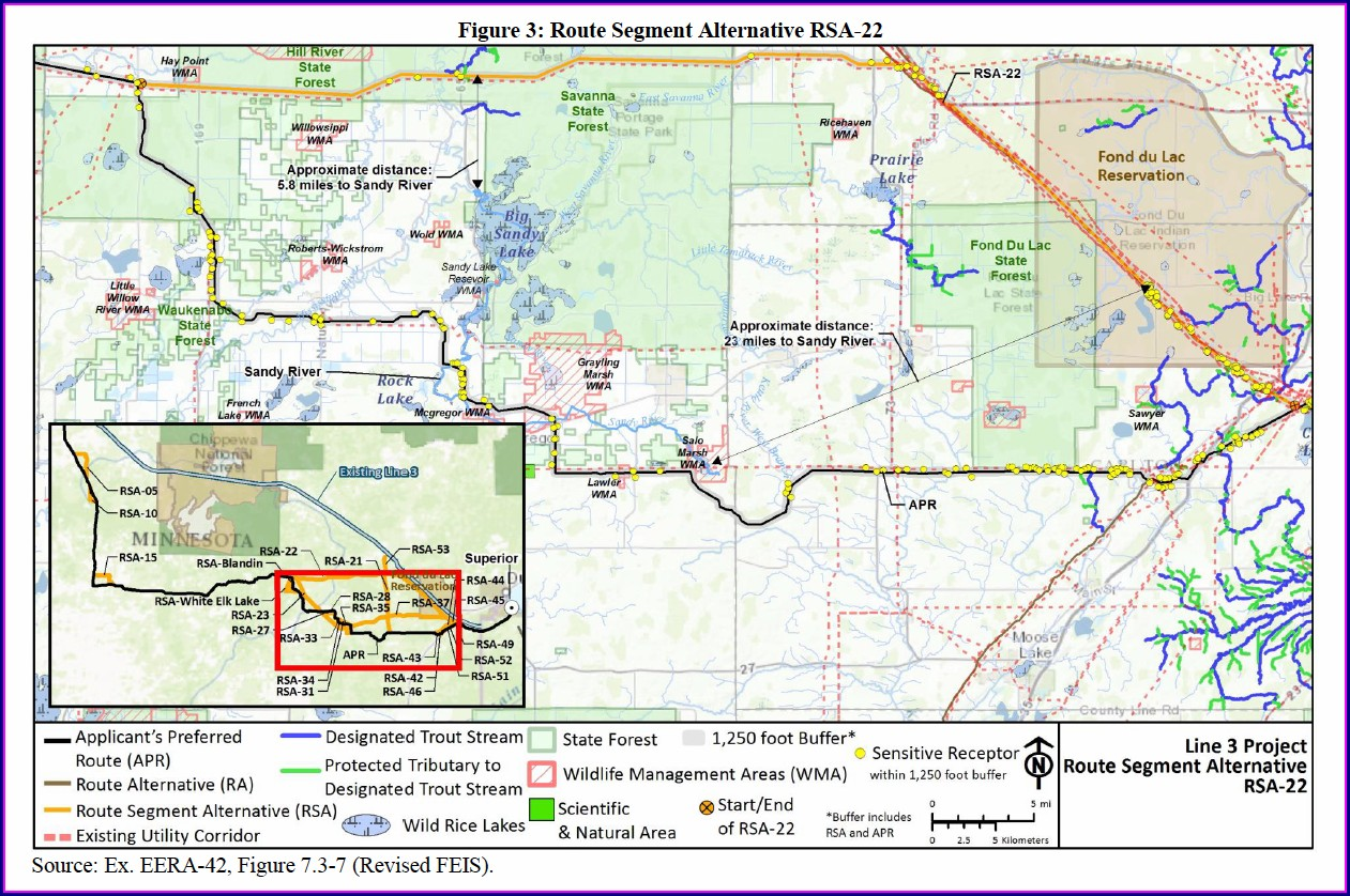 Enbridge Line 3 Map