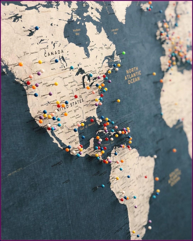 Etsy Push Pin Map