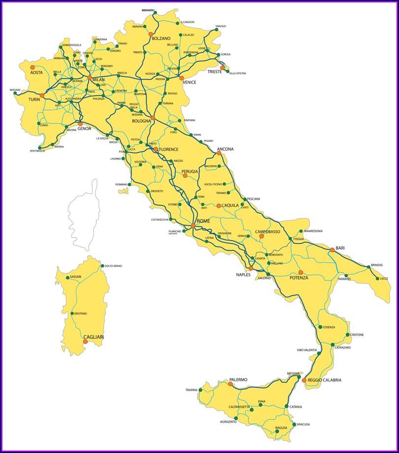 Eurail Train Map Italy