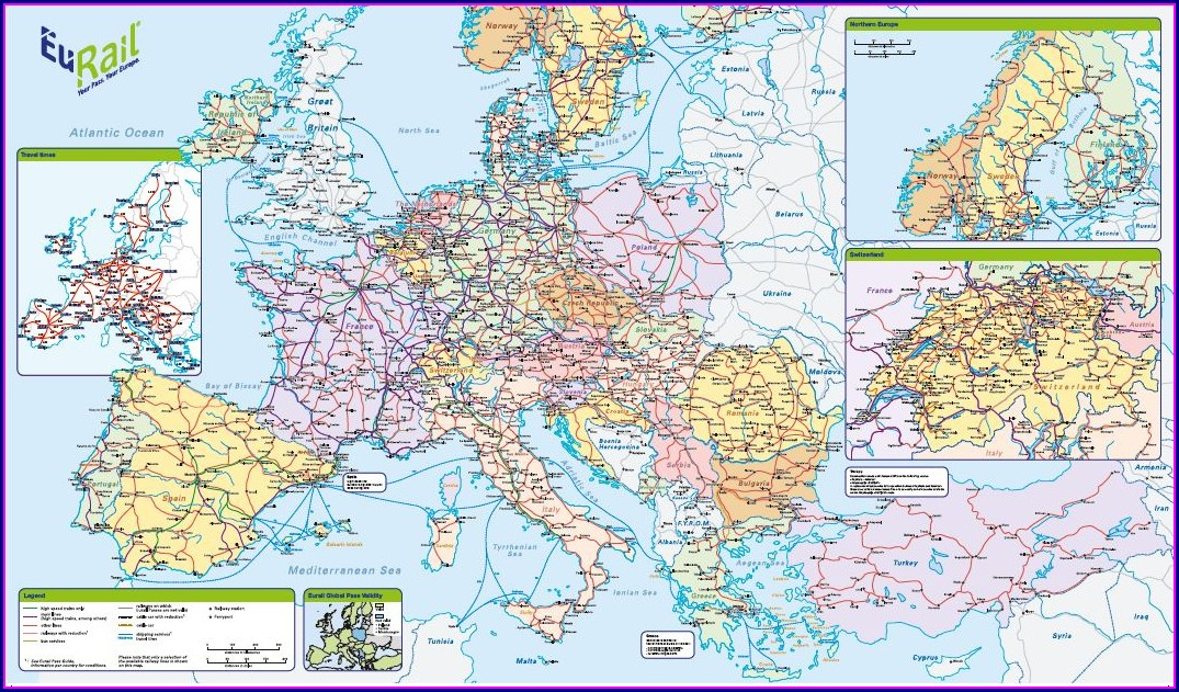 Eurail Train Map Pdf