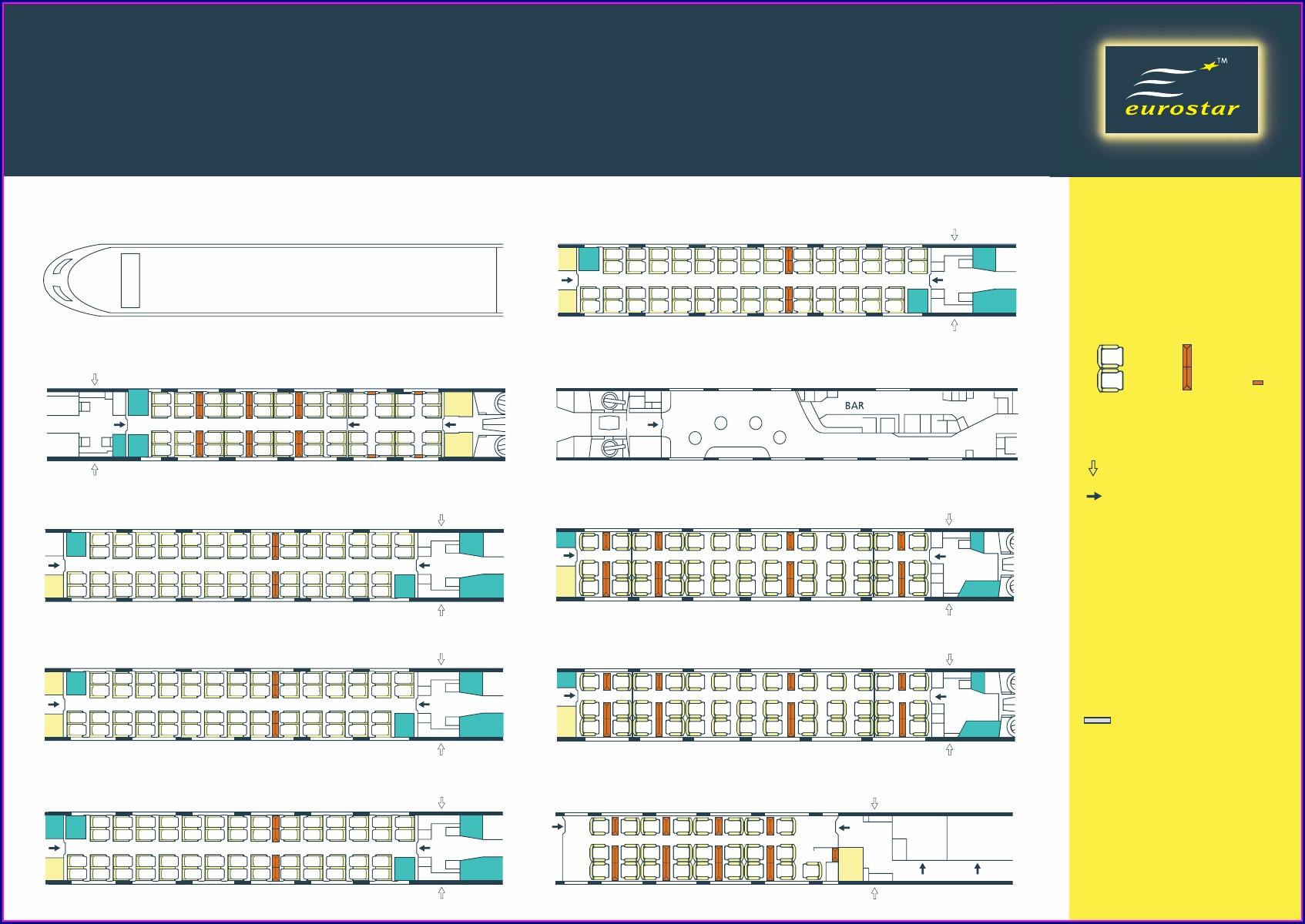Eurostar Seat Map Coach 1