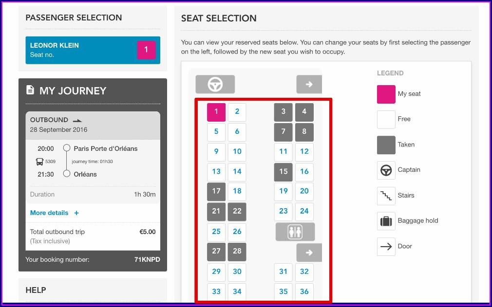 Eurostar Seat Map Coach 6