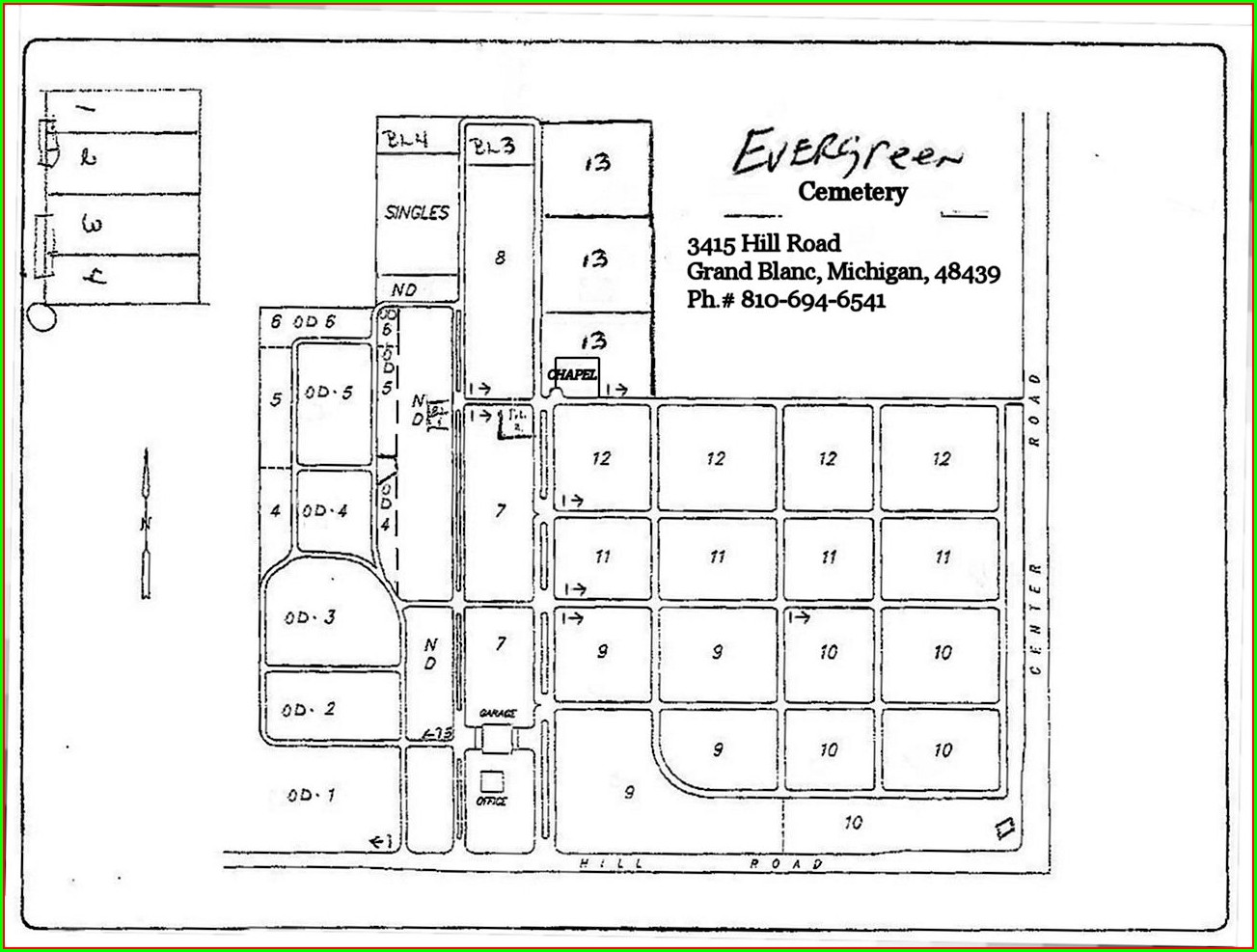 Evergreen Cemetery Cemetery Burial Plot Maps