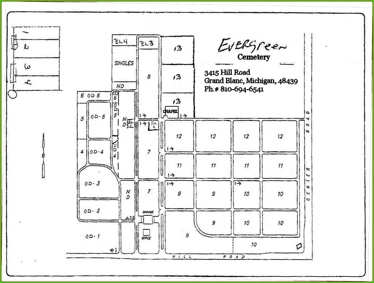 Evergreen Cemetery Cemetery Burial Plot Maps