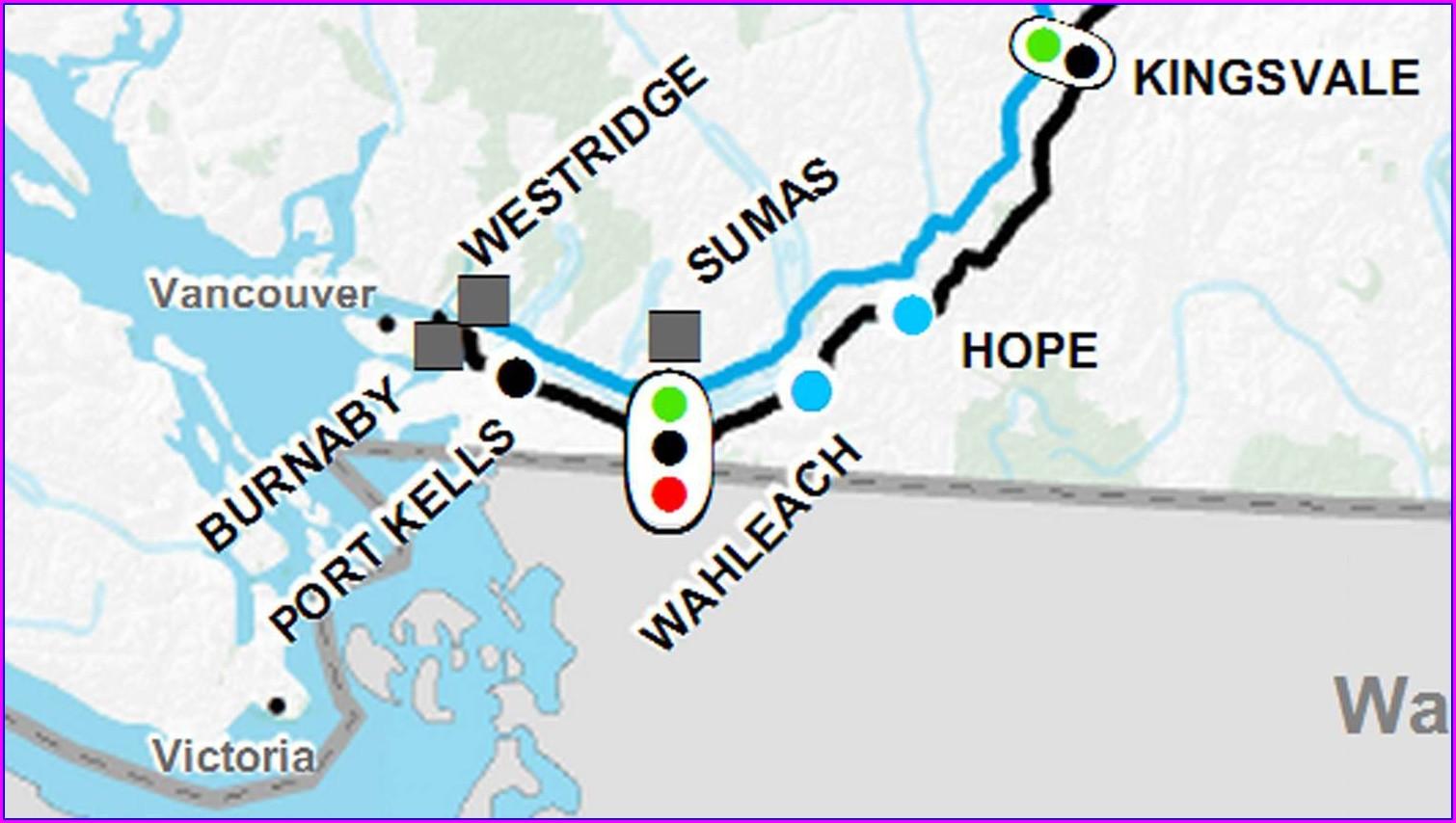 Expansion Kinder Morgan Pipeline Map