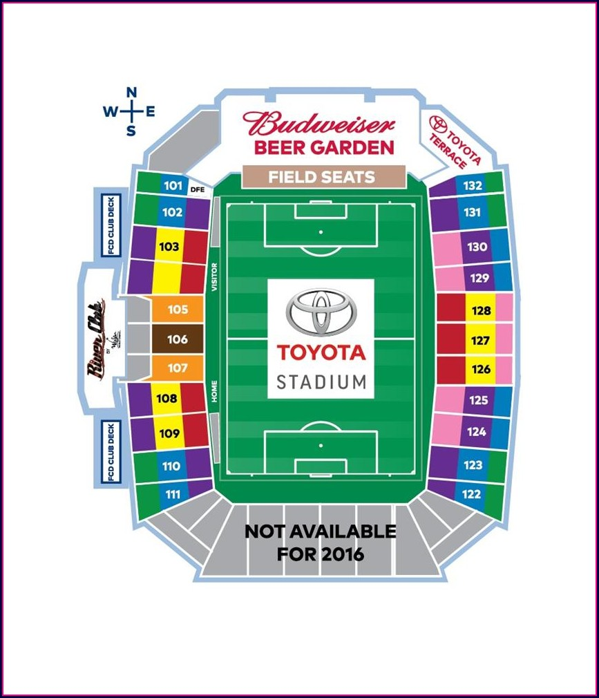 Fc Dallas Stadium Map