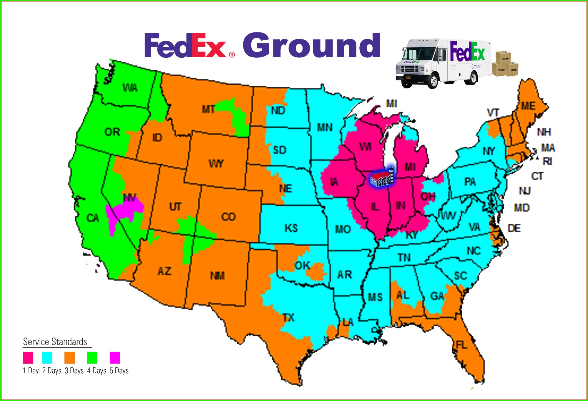 Fedex Freight Transit Times Map