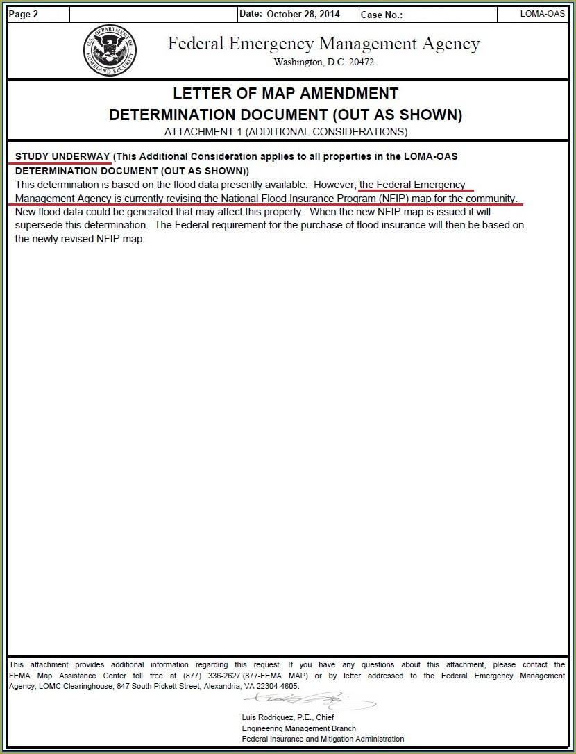 Fema Letter Of Map Amendment Determination Document