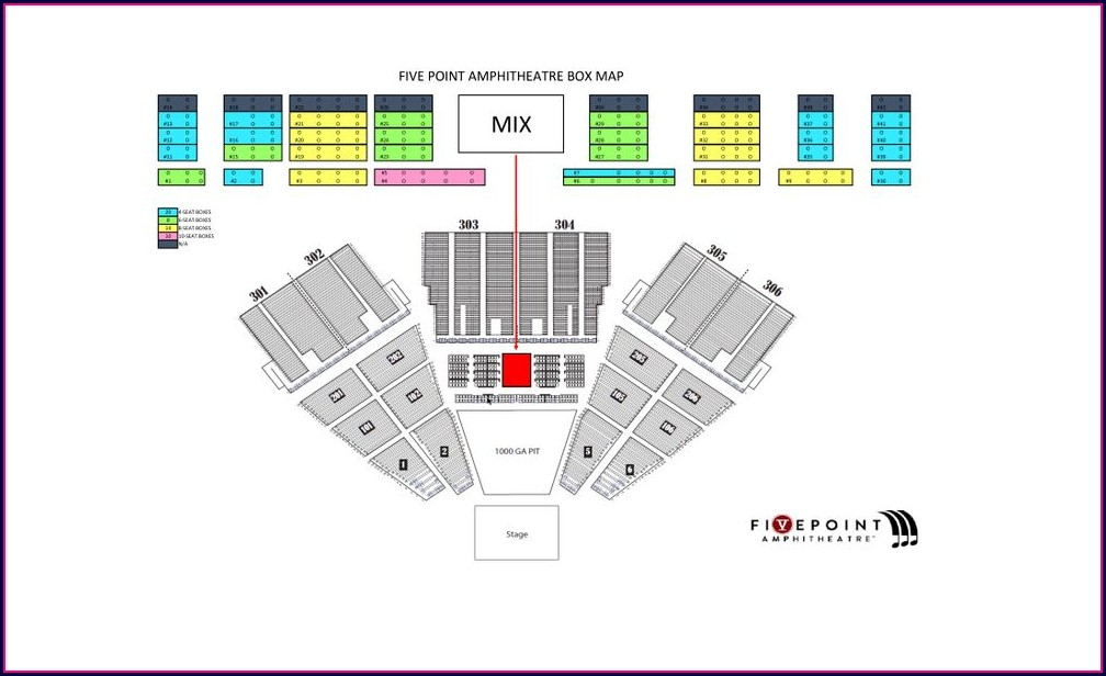 Five Point Amphitheater Seating Map