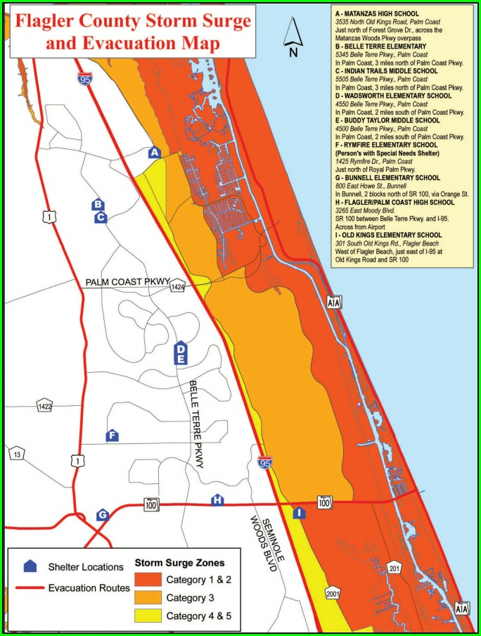 Flagler Beach Flood Zone Map