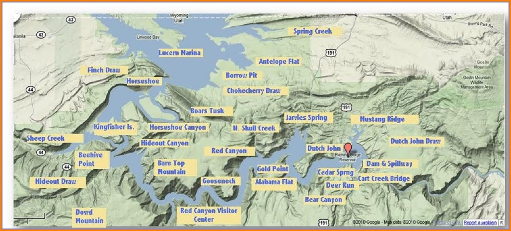 Flaming Gorge Campgrounds Map