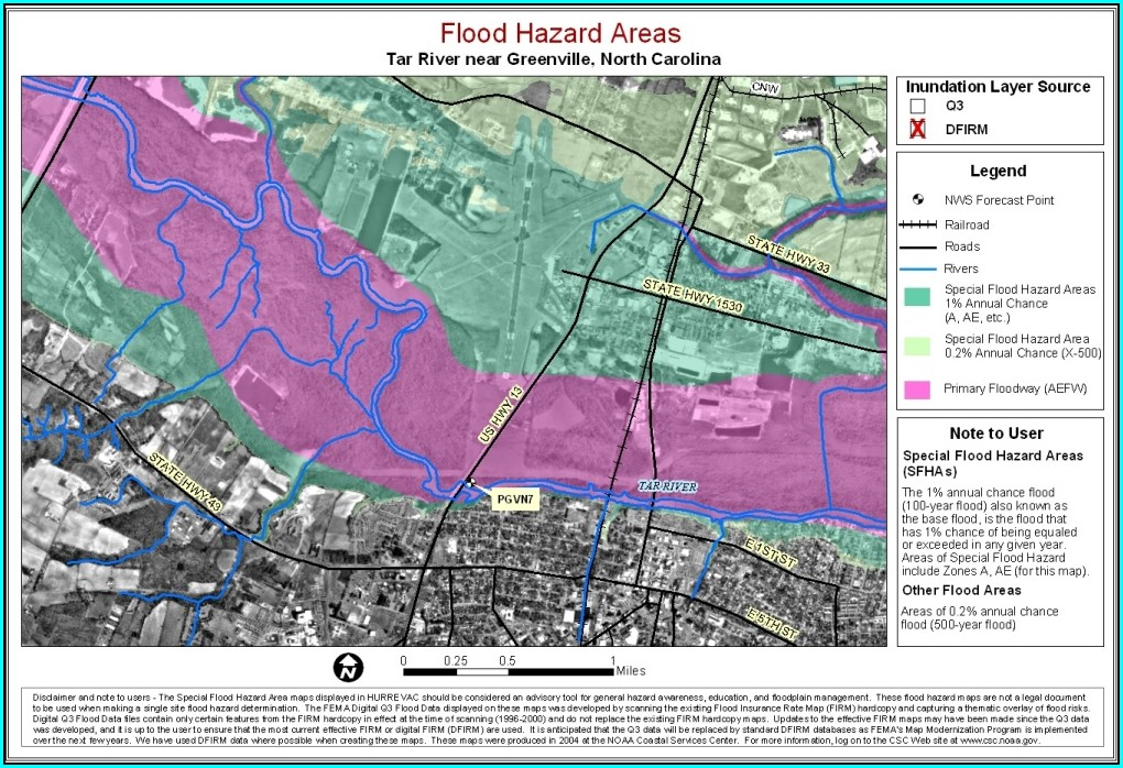 Flood Zone Map Greenville Nc