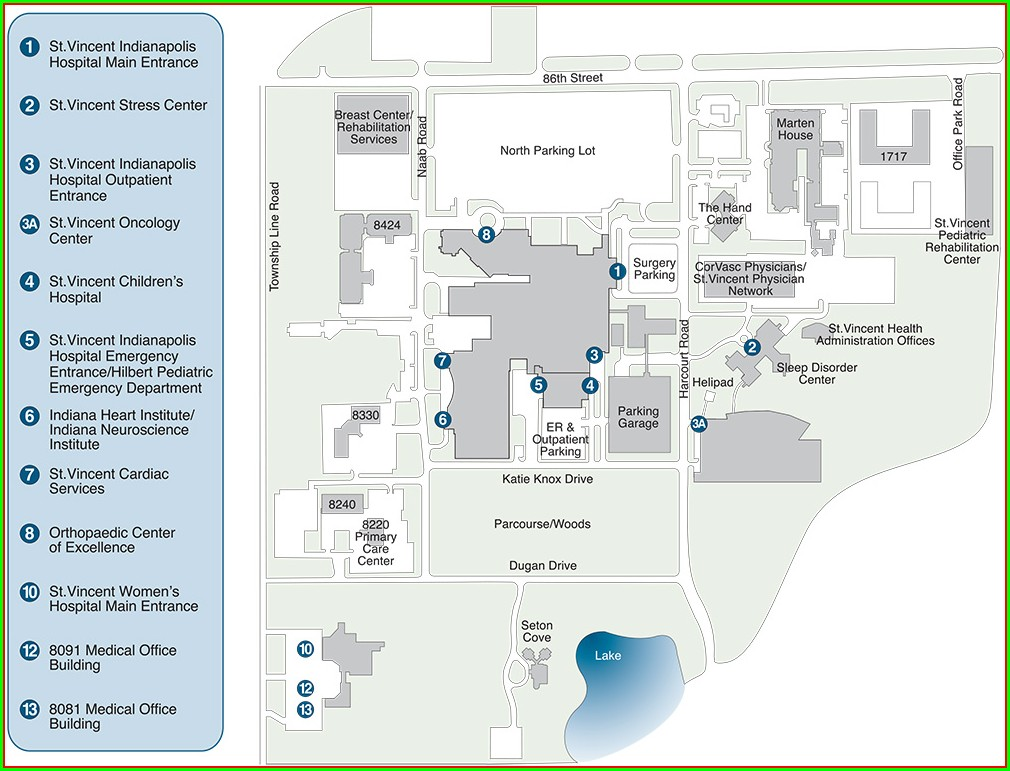 Floor Plan Iu Methodist Hospital Map