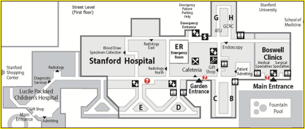 Floor Plan Stanford Hospital Map