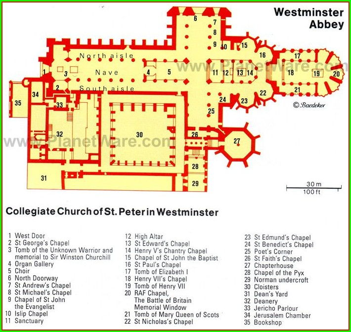 Floor Plan Westminster Abbey Map