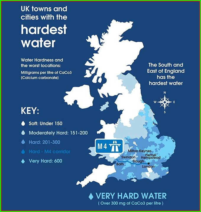 Fluoridated Water Map Uk