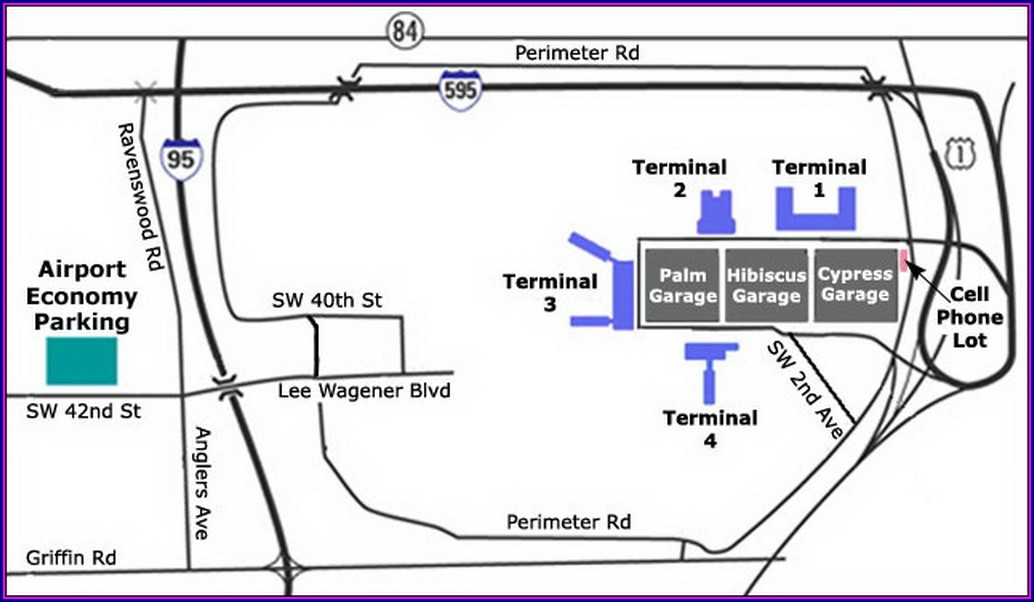 Fort Lauderdale Airport Parking Garage Map