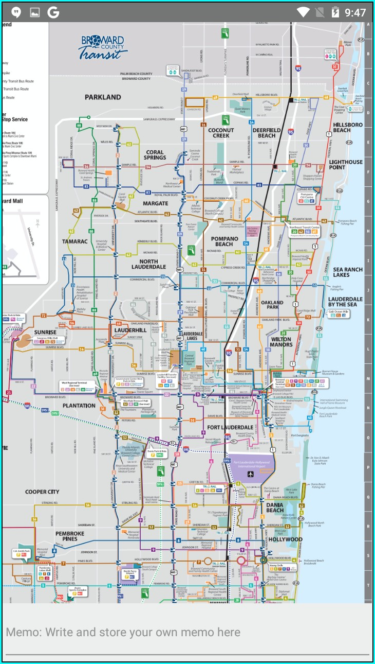 Fort Lauderdale Bus Map
