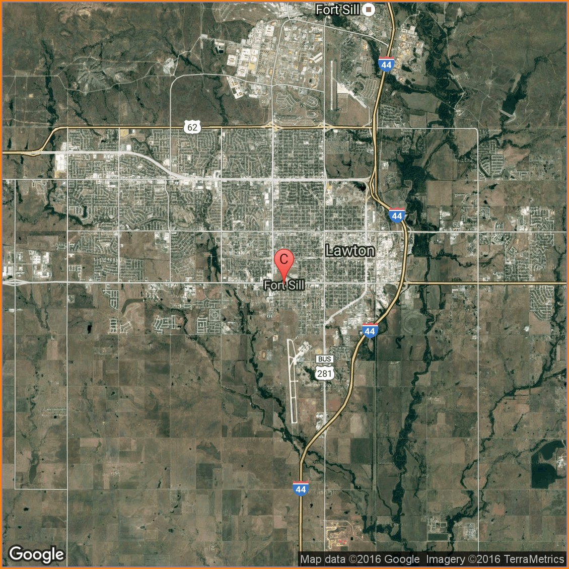 Fort Sill Oklahoma Army Base Map