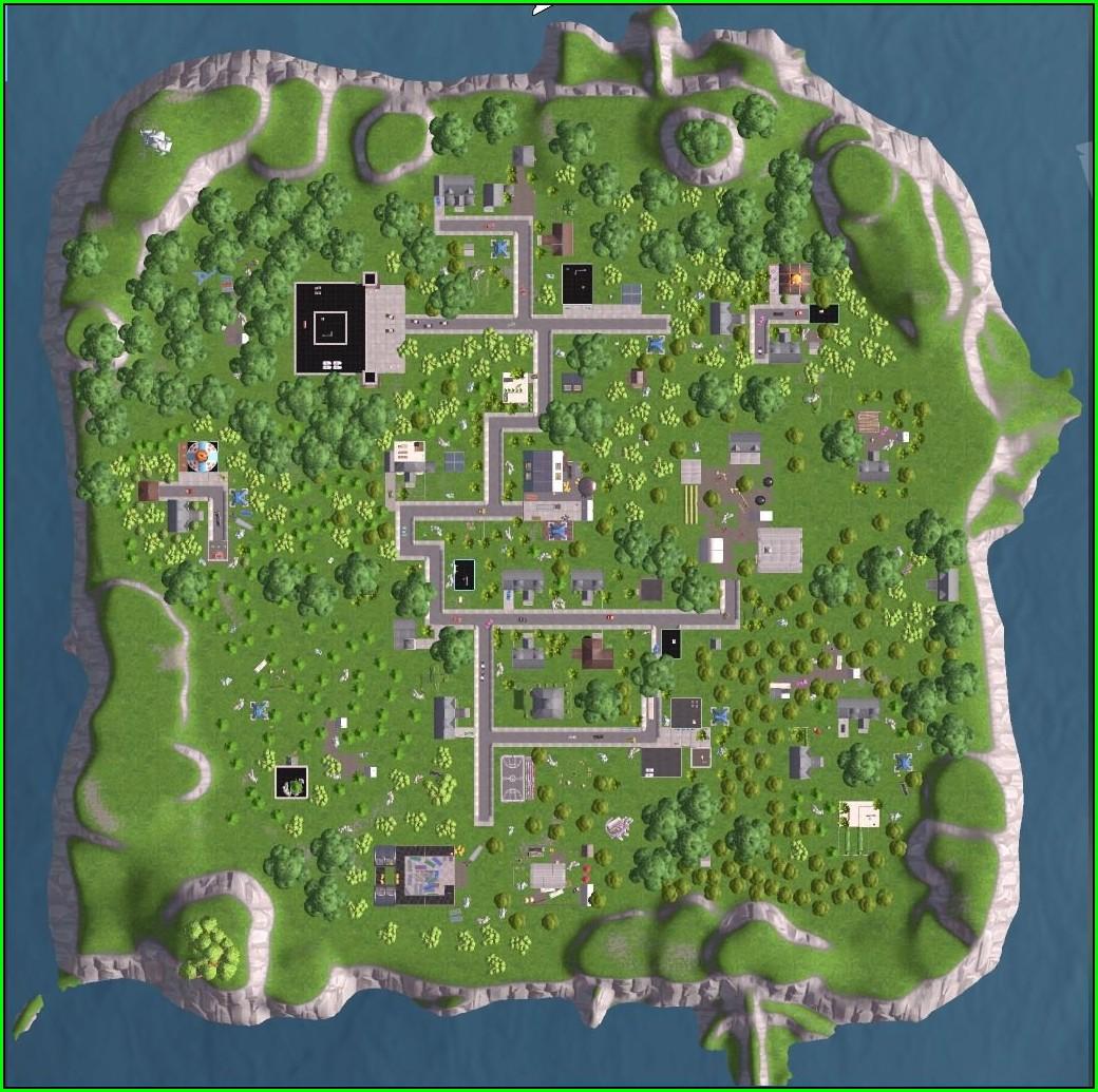 Fortnite Battle Royale Map