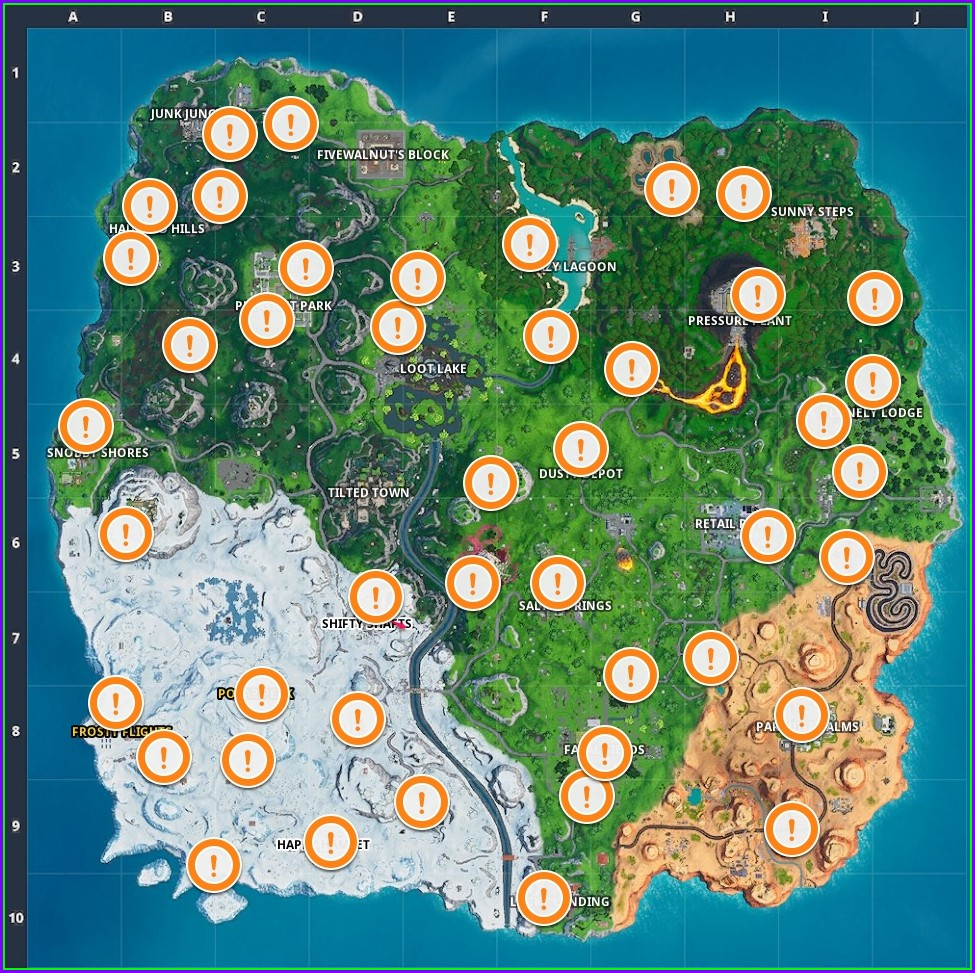 Fortnite Vending Machine Locations Map Season 9