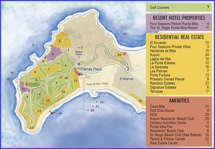 Four Seasons Punta Mita Map